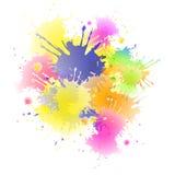 Fondo coloreado del chapoteo Fotografía de archivo libre de regalías