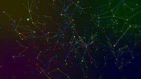 Fondo coloreado del extracto de la geometría Fotografía de archivo libre de regalías