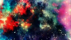 Fondo coloreado del extracto de Strars de la explosión de la galaxia del arco iris Fotos de archivo