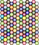 Fondo coloreado del mosaico - vector Foto de archivo