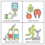 Fondo coloreado diabetes del vector ilustración del vector
