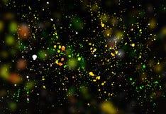 Fondo coloreado extracto de las gotas de la pintura Fotografía de archivo libre de regalías