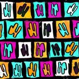 Fondo coloreado extracto de los polígonos hermosos de la pintada stock de ilustración