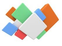 Fondo coloreado extracto del cuadrado 3d. ilustración del vector