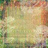 Fondo coloreado extracto del marco del libro de recuerdos Fotos de archivo libres de regalías