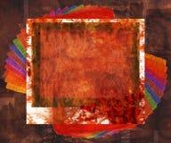 Fondo coloreado Grunge del marco Foto de archivo libre de regalías