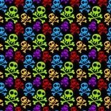 Fondo coloreado inconsútil de los cráneos Imagenes de archivo