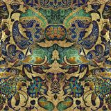 Fondo coloreado lamentable abstracto verde floral ilustración del vector