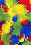 Fondo coloreado multi de las plumas Foto de archivo