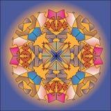 Fondo coloreado multi del caleidoscopio Stock de ilustración