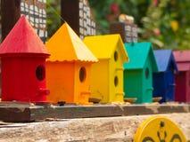 Fondo coloreado multi del primer de las casas de las colmenas Imagen de archivo libre de regalías