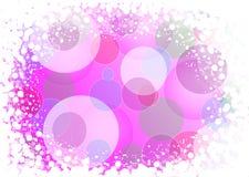 Fondo coloreado rosado abstracto de las luces del día de fiesta Foto de archivo libre de regalías