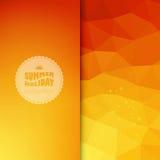 Fondo coloreado vector con el texto del verano Imagen de archivo libre de regalías