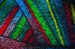 Fondo, colores brillantes, pared, geometría Fotos de archivo libres de regalías