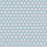 Fondo colorido único hexagonal abstracto del modelo Foto de archivo