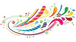Fondo colorido ilustración del vector