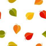 Fondo colorido abstracto aislado de las hojas Contexto del follaje del otoño Textura inconsútil de la caída Ambiente natural Imágenes de archivo libres de regalías