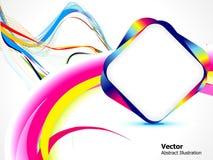 Fondo colorido abstracto con la onda Fotos de archivo