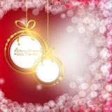 Fondo colorido abstracto con las bolas de la Navidad Imagen de archivo libre de regalías