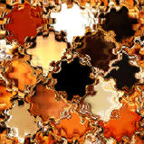 Fondo colorido abstracto con las ventanas vacías stock de ilustración