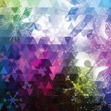 Fondo colorido abstracto con los copos de nieve Fotografía de archivo
