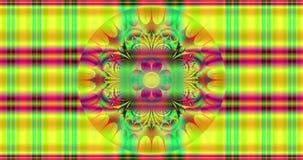 Fondo colorido abstracto de la flor con un modelo hipnótico llamativo detallado y un estampado de plores de intercambio hermoso