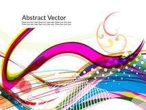 Fondo colorido abstracto de la onda Fotografía de archivo