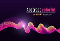 Fondo colorido abstracto de la onda Líneas coloridas móviles en libre illustration