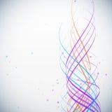 Fondo colorido abstracto de las ondas con los puntos Imagen de archivo