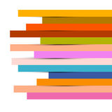 Fondo colorido abstracto de las tiras de papel Imagen de archivo libre de regalías