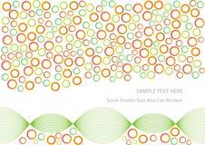 Fondo colorido abstracto de los círculos Imagen de archivo