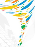 Fondo colorido abstracto de los puntos Imagen de archivo libre de regalías