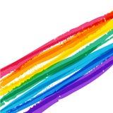 Fondo colorido abstracto del arco iris de la acuarela Illustra del vector libre illustration