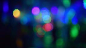 Fondo colorido abstracto del bokeh coloreado que destella almacen de metraje de vídeo