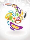 Fondo colorido abstracto del círculo. stock de ilustración