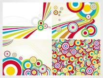 Fondo colorido abstracto del círculo, conjunto stock de ilustración