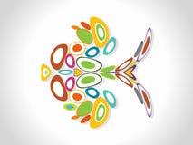 Fondo colorido abstracto del círculo. Illust del vector stock de ilustración