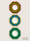 Fondo colorido abstracto del concepto del semáforo Fotografía de archivo
