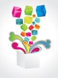 Fondo colorido abstracto del cubo. libre illustration