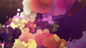 Fondo colorido abstracto del movimiento con los círculos móviles almacen de metraje de vídeo