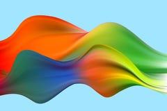 Fondo colorido abstracto del vector, onda l?quida del flujo del color para el folleto del dise?o, sitio web, aviador L?quido de l stock de ilustración