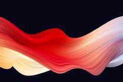 Fondo colorido abstracto del vector, onda l?quida del flujo del color para el folleto del dise?o, sitio web, aviador L?quido de l libre illustration