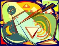 Fondo colorido abstracto, formas geométricas y curvadas de lujo 17-248 Fotos de archivo libres de regalías