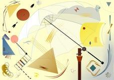- fondo colorido abstracto, paraguas del ` s del fotógrafo Foto de archivo