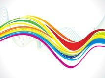 Fondo colorido artístico abstracto de la onda Fotografía de archivo