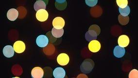Fondo colorido borroso de las luces Fondo colorido del bokeh por el Año Nuevo festivo almacen de video
