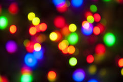 Fondo colorido brillante del bokeh de Navidad Imagen de archivo