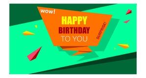 Fondo colorido brillante del papel de feliz cumpleaños stock de ilustración
