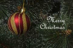 Fondo colorido con el árbol de navidad adornado Imagen de archivo