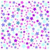 Fondo colorido con el confeti de estrellas, para las tarjetas de felicitación y las celebraciones Imagen de archivo libre de regalías